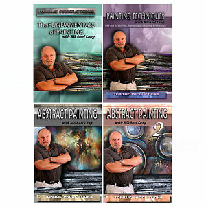 """Painting Instruction, Art 4 DVD set """" with Michael Lang, Fundamentals,Techniques"""