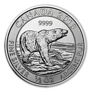 2018 Canada Polar Bear $2 1/2 oz .9999 Silver
