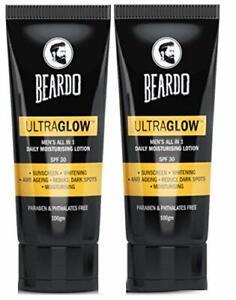Beardo Ultraglow Face Lotion For Men, 100g (Pack of 2) SPF30 Free Shipping US
