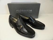 NEW Florsheim Mens Como Imperial Black Dress Shoes Loafers Sz 6 Wide ZT3-19