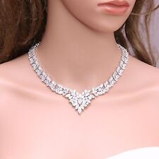 Sparkling Star Platinum Plated Cubic Zirconia Necklace Birthday Gift