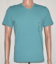 Alfani #5851 NEW Men's Sz Small Green Marble Stretch Short Sleeve V-Neck T-Shirt