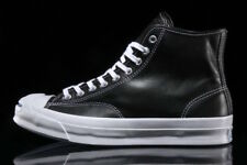 NIB $150 Converse Jack Purcell Signature Hi Leather Black 153586C US Mens 10.5