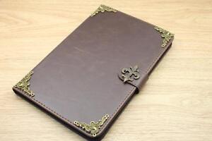 Fleur De Lis Magnetic Smart Cover Card Holder Handmade Stand Flip Case For iPad