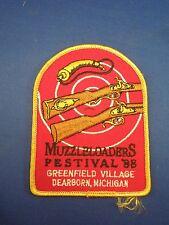 Vintage 1988 Muzzle Loaders Festival Greenfield Village MI Iron On Patch