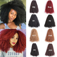 "18"" Afro Kinky Twist Marley Braids Synthetic Crochet Twist Braiding Reggae Hair"