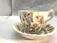 "Vintage Myott Berry Bowl ""Indian Tree"" Teacup & Saucer"