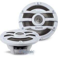 "Kenwood KFC-2053MRW 300W 8"" 2-Way KFC Series Coaxial Marine Boat Speakers"