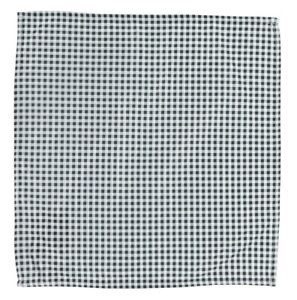 WURKIN STIFFS Mens Black/White 'Check' Microfiber Pocket Square 140126