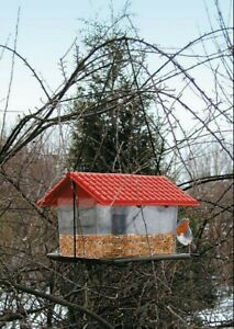 Vogelfutterhaus Vogelfutterspender Vogelfuttersilo Vogelhaus Vogelhäuschen765006
