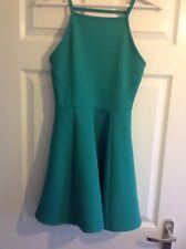 H&M Bright Green Skater Dress Size 10