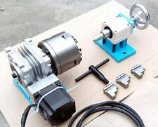 CNC Router Rotary Axis A 4th-axis,3-Jaw-100mm tailstock (Steel frame)  20:1
