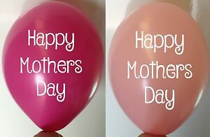 """Happy Mothers Day Classy Script Rose Pink 11"""" Decorators Latex Balloons"""