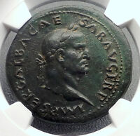 GALBA 68AD Sestertius NGC Certified XF Rare Authentic Ancient Roman Coin i60510