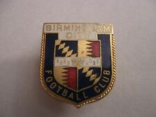 RARE OLD 1949-58 BIRMINGHAM CITY FOOTBALL CLUB ENAMEL BUTTONHOLE BADGE BY MILLER