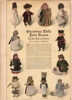 1917 Ladies Home Journal Christmas print (only) Christmas Dolls from Russia