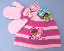 DISNEY DOC McSTUFFINS HAT MITTENS  SET  2-4 YRS GIRLS CHILD'S KIDS winter glove