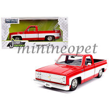 JADA 31608 JUST TRUCK 1985 CHEVY C-10 PICK UP TRUCK 1/24 STOCK RED / WHITE
