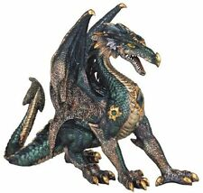 "10"" Green Dragon Fantasy Figurine Statue Sculpture Collectible"