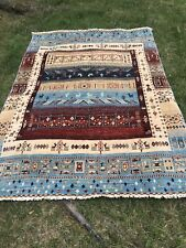 New listing Hand knotted unique vintage oriental rug.