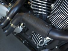 DEI CARBON BLACK FIBERGLASS FLEXIBLE EXHAUST HEAT SHIELD HARLEY DUCATI HONDA TRI