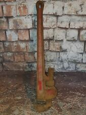 Vintage Large Record Leader 24 Wrench Tool Stiltons Pipe Wrench