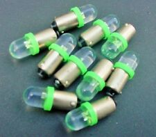 10 Fits Studebaker Green 12V LED Instrument Panel BA9S Light Bulbs Globes NOS