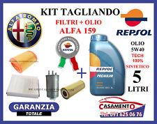 KIT TAGLIANDO FILTRI + OLIO REPSOL 5W40 ALFA 159 2.4 JTD 200CV 210CV 2005 IN POI