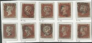 SELECTION OF10 VICTORIAN 1841 PENNY REDS SEE SCAN