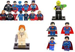 Superman Mini Figures NEW UK Seller Fits Major Brand Blocks Bricks Supergirl Son