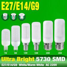 E14 E27 G9 LED Corn Bulb Desk Lamp Cool/Warm Milky Lights 25/20/15/12/9/7W 220V