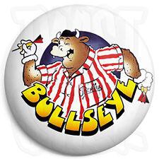 Bullseye Bully Bull - 25mm Button Pin Badge - Retro Darts Quiz TV Program