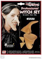 Witch Fancy Dress Set Ears Nose & Chin Halloween Kit Set