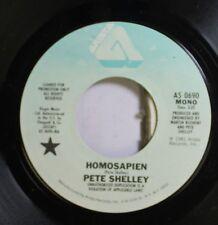 Rock 45 Pete Shelley - Homosapien / Homosapien On Arista