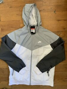 Nike Sportswear Windrunner Jacket - Men's Large ~ $100.00 AT5270 102 Grey White