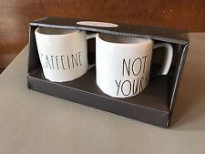 Rae Dunn Mugs - Caffeine & Not Yours (set of 2)