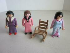 3 Nice Vintage 1987 Playmobil Victorian Women with Rocking chair