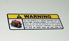 Honda Serie B advertencia Sticker Decal B16 B18 B20 Civic Integra Accord Crx Vtec