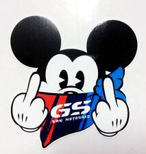 2 x BMW MOTORRAD GS Mickey Mouse R1200 F800 R1100 R1150 GS ADVENTURE STICKER