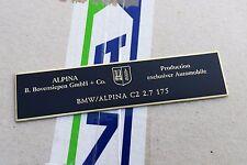 BMW Alpina E30 E28 E24 E23 M3 console dash plate C1 C2 B3 B6 B6S B7 B7S B10