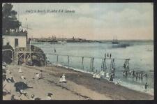 Postcard ST JOHN's New Brunswick/CANADA  Beaty's Beach Area Bath House 1907
