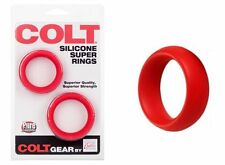 COLT Silicone Super Rings 2 Pack C-ring C&B Penis Rings RED
