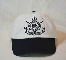 Polo Ralph Lauren Cap Ballcap Athletic Division Hat White/Navy NWT