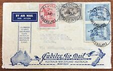 1935 15 May special jubilee airmail cover Australia New Zealand return
