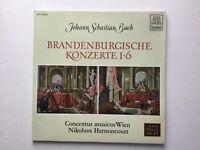 2 LP Bach Brandenburgische Konzerte 1-6 Nikolaus Harnoncourt
