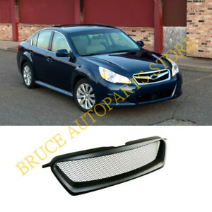 Front Hood Bumper Sport Mesh Grill Grille Refit For Subaru Legacy 2010 2011 2012