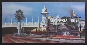 MALAYSIA 1985 CENTURY TRAIN KTM MS 318 MNH OG