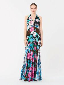 Diane Von Furstenberg 'Noelle' maxi dress size 10 bias cut BNWT £767