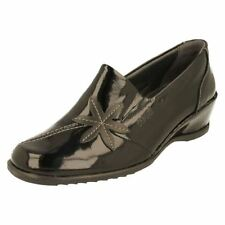 Patent Leather Casual Floral Heels for Women