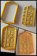 Tardis Doctor Who 3D Printed Cookie Cutter Stamp Baking Biscuit Shape Tool